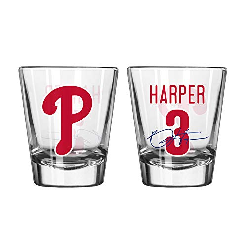 Philadelphia Phillies Bryce Harper #3 2oz Shot Glass ()