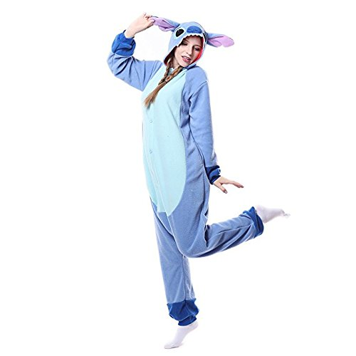 ROYAL WIND Adults Stitch Onesie Halloween Costumes Sleeping Wear Kigurumi Pajamas M (M And M Costume For Halloween)