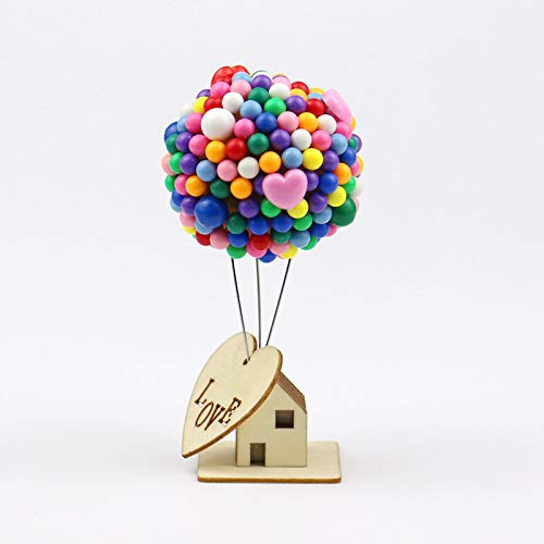 Ocamo Up Balloon with Cabin Decoración del Coche Adornos Interior Tablero Decoración Regalo de cumpleaños Decoración para...