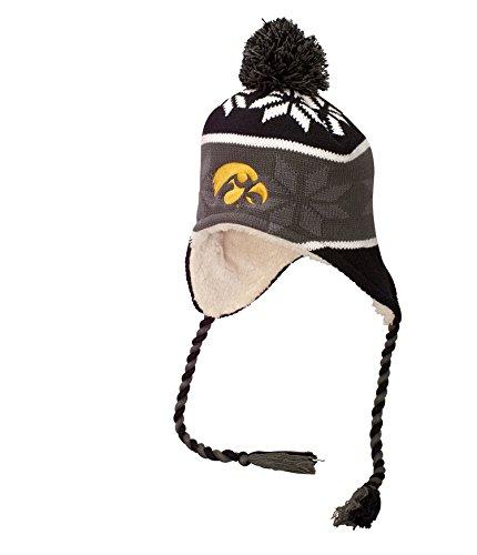 NCAA Iowa Hawkeyes Adult Unisex Ridge Beanie One One Size