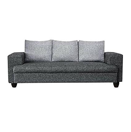 Sofas Jute Fabric 3 Seater Sofa Dark Grey Light Grey Imperial Amazon In Home Kitchen