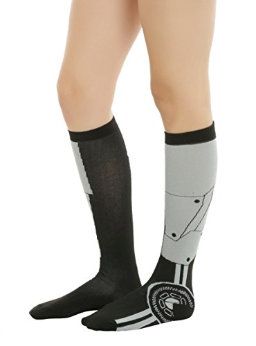 Blackheart Black & Grey Gear Knee-High Socks