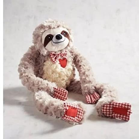 PIER 1 VIRGIL THE VALENTINE SLOTH PLUSH STUFFED ANIMAL   2018