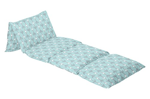 Turquoise Blue and Grey Arrow Kids Teen Floor Pillow Case Lounger Cushion (College Floor Pillows)