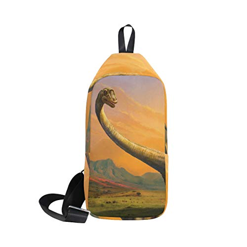LORVIES Dinosaur Sling Bag Shoulder Chest Cross Body Backpack Lightweight Casual Daypack for Men Women by LORVIES