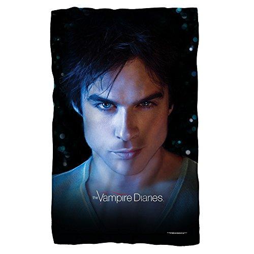 Damon Close-Up -- The Vampire Diaries -- Fleece Throw Blanket, Cool Damon, 36