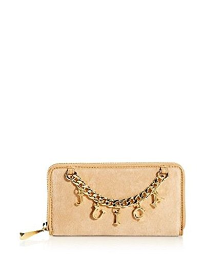 JUICY COUTURE ICONIC CHARM VELOUR ZIP AROUND WALLET. YSRU2507 ( NEW WITH (Velour Zip Around Wallet)