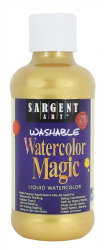 Hair Gold Liquid Glue - Sargent Art 22-6081 8-Ounce Watercolor Magic, Metallic Gold