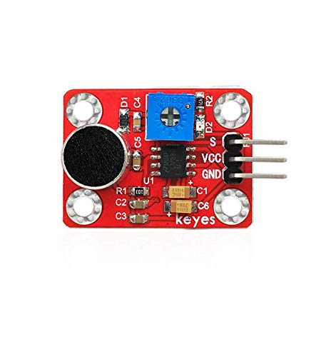 Pzsmocn Arduino Microphone Sound Sensor, 4PIN Interface,Four Positioning Holes That Allow You to Fix it to Other Devices.