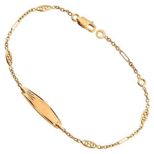 Orleo - REF5136BB : Bracelet identité Enfant Or 18K jaune - Fabriqué en France