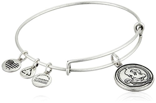 (Alex and Ani Florida State University Mascot Expandable Rafaelian Silver Bangle Bracelet)