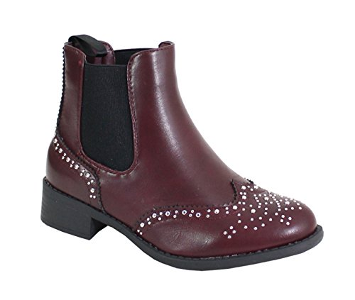 By Shoes Women's Fashion Boots Red 4D3rLnq7te