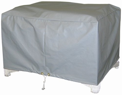 (Protective Covers Weatherproof Ottoman Cover, Small, Gray)