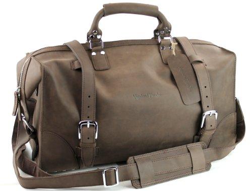 Vagabond Traveler Large Fine Leather Overnight Travel Duffle Gym Bag L08 Distress, Bags Central