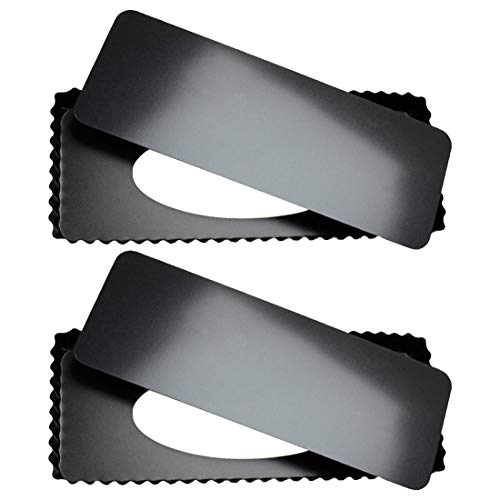 Tosnail 2 Pack Rectangular Quiche Pan Tart Pan with Removeable Bottom - 14 Inch