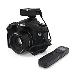 Satechi WTR-A Wireless Timer Shutter for Canon EOS-1V/1VHS, EOS-3, EOS-D2000, D30, D60, 1D, 1Ds, EOS-1D/s Mark II,III,IV, EOS-10D, 20D, 30D, 40D, 50D, 5D, 5D Mark II,III, IV, 6D, 7D, & RS-80N3