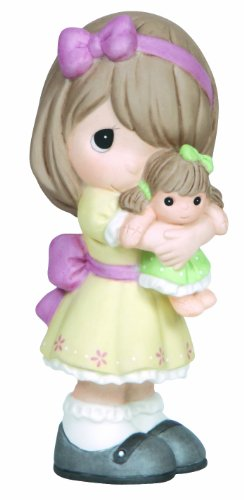 (Precious Moments Figurine, Girl Hugging Doll, 133001)