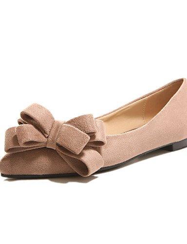 ZQ Zapatos de mujer-Tac¨®n Cono-Tacones / Puntiagudos-Tacones-Oficina y Trabajo / Casual-PU-Negro / Azul / Rosa / Beige , black-us7.5 / eu38 / uk5.5 / cn38 , black-us7.5 / eu38 / uk5.5 / cn38