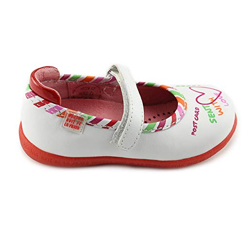 (Agatha Ruiz De La Prada Girls White Mary Janes Leather Shoes with Arch and Ankle Support (142934 A-Blanco))