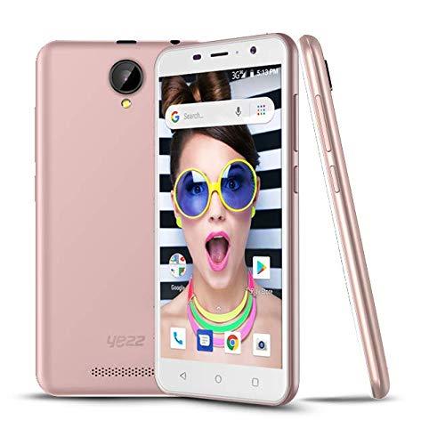 (New YEZZ 5E Pink – Unlocked Smartphone – 8GB + 1 GB, Android Oreo (Go Edition), 1 Year Warranty)