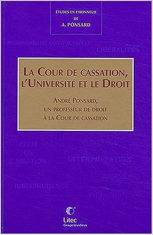 Lire Mélanges Ponsard : La cour de cassation pdf, epub ebook