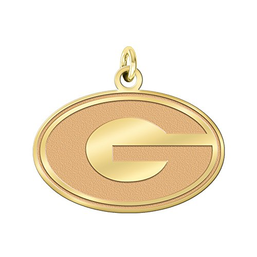 College Jewelry University of Georgia Bulldogs Solid 14K Yellow Gold Natural Finish Cut Out Logo Charm (1/2