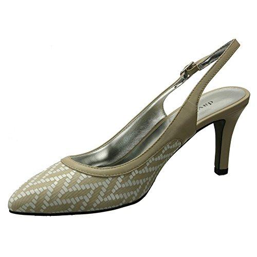 David Tate Femmes Chaussures Bella Chaussures Camel Tissé Kid
