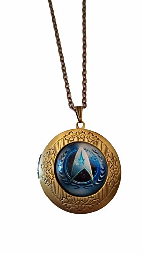 Star Trek Command United Federation of Planets Glass Domed Pendant Locket Necklace
