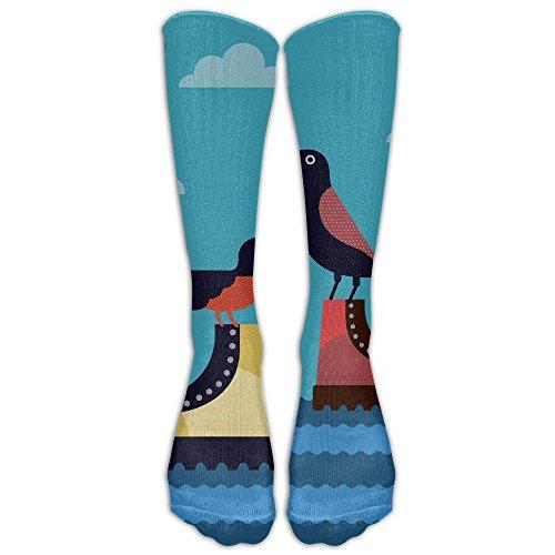 Float Unisex Knee High Athletic Soccer Tube Sock, Over The Calf Athletic Socks