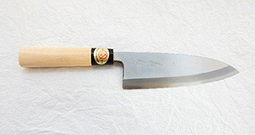Yoshihiro Yasuki Yellow Steel,KASUMI Japanese Home Deba Knife (150mm/5.9'')