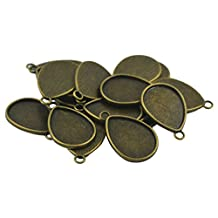20pcs Blank Water Drop Bezel Tray Base for 18x25 mm Cabochon Jewelry DIY