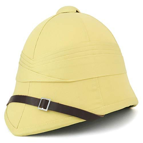 (Armycrew British Style Pith Helmet Safari Hat - Khaki)