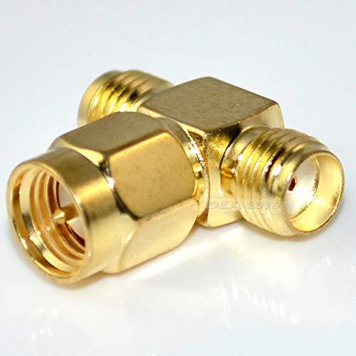 FidgetFidget Coaxial Connector SMA Male Plug to 2 Dual SMA Female Triple T RF 3 Way ranlinUSW-NAVEE-1012-D7EB75927A