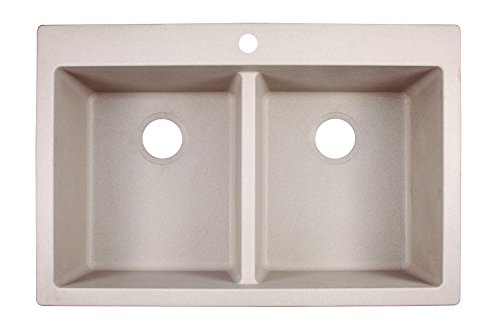 "Franke DIG62D91-CHA Primo 33"" Dual Mount Granite Double Bowl"