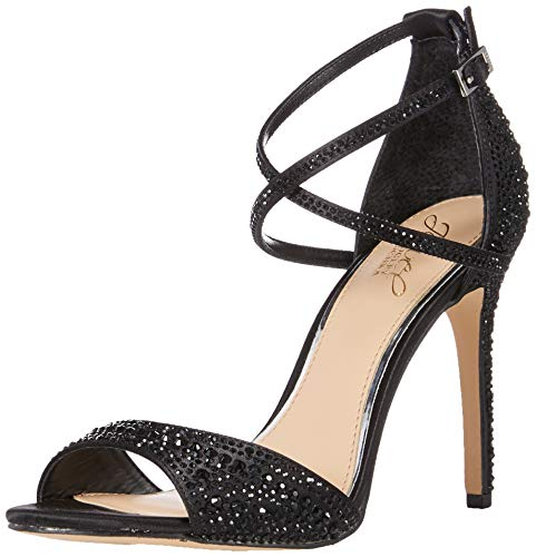 Badgley Mischka Jewel Women's Dillon Heeled Sandal Black Satin 10 M US
