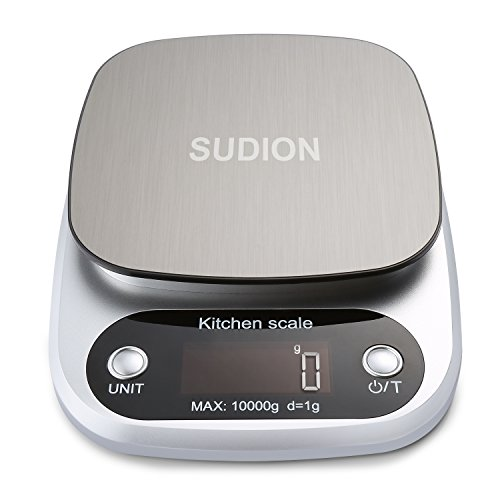 Sudion Digital Kitchen Scale, 22lb/10kg Food Scale Multifunc