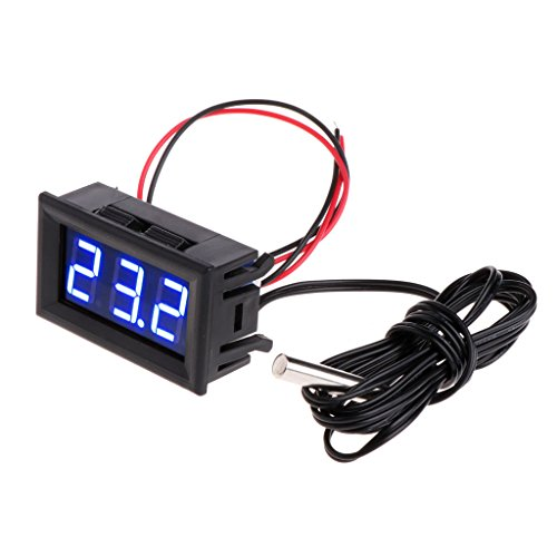 Digital LED Thermometer -50~110 °c DC 5-12V Car Temperature Panel Meter Gauge By Sixsons