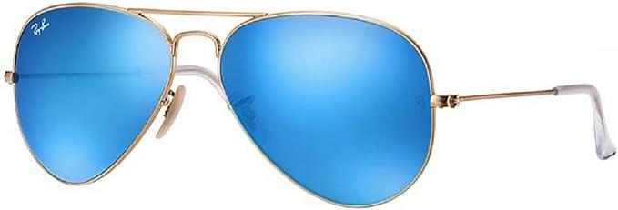 ray ban miroir bleu femme