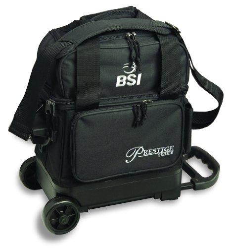 BSI Prestige Series Single Ball Roller Bag (Black/Silver Logo)