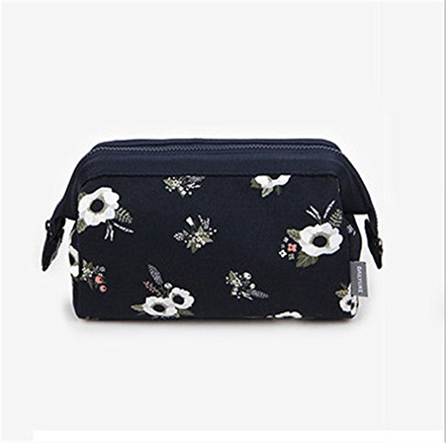 Waterproof Canvas Travel Makeup Organizer Women Floral Cosmetic Storage Bag Necessaries Make Up Case Beauty Toiletry Bag