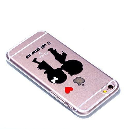 """Crisant Küssen Paar Drucken Design weich Silikon Ultra dünn TPU Transparent schutzhülle Hülle für Apple iPhone 6 Plus / 6S Plus 5.5"""" (5,5''),Premium Handy Tasche Schutz Case Cover Crystal Bumper Schal"""