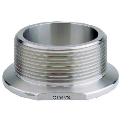 Banjo M300220MPTSS Manifold Fitting, 3'' Flange x 2'' Full Port Male NPT, 316 Stainless Steel