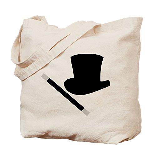 CafePress Magic Top Hat And Wand Natural Canvas Tote Bag, Cloth Shopping Bag -