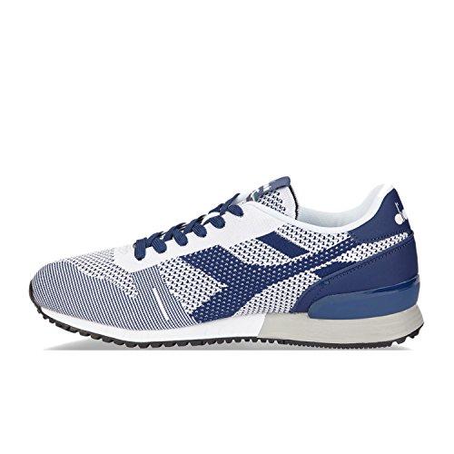 Diadora Titan Weave, Sneaker Uomo C6754 - Bianco-bianco-estate Blue