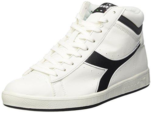 Diadora Game P High, Sneaker a Collo Alto Uomo Bianco (Bianco/Nero)