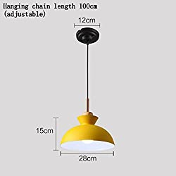 PRX Nordic modern minimalist fashion creative personality lamps Macarons restaurant bar cafe single yellow chandelier (Style : H)