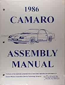 1986 camaro factory assembly manual reprint berlinetta z28 iroc rh amazon com 1968 camaro assembly manual pdf 1968 camaro assembly manual pictures