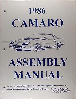 1986 camaro factory assembly manual reprint berlinetta z28 iroc rh amazon com 1986 camaro repair manual pdf 1989 camaro repair manual