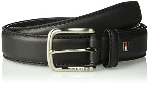 Tommy Hilfiger Men's Casual Belt, Black logo, 36