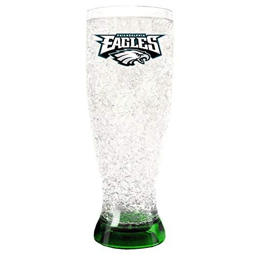 Hall of Fame Memorabilia Philadelphia Eagles Crystal Pilsner Glass Crystal Philadelphia Eagles Football